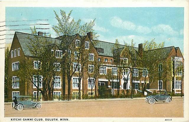Historic illustration of the Kitchi Gammi Club building