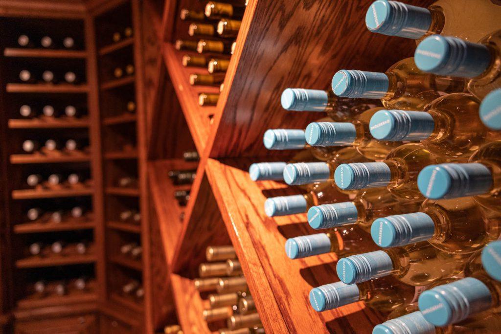stocked wine cellar
